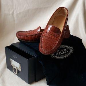 JP Tod's Genuine Alligator Loafers